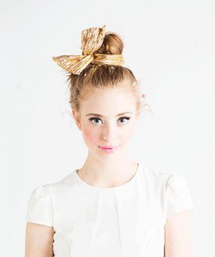 metallic gold hair scarf