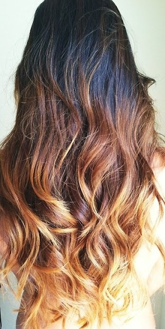 ombre brunette hair // so beautiful!