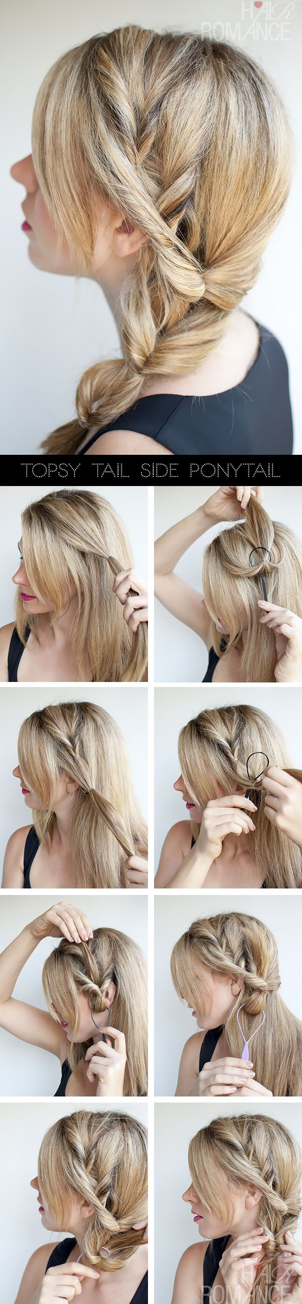 Own a Topsy Tail? Try this pretty style.