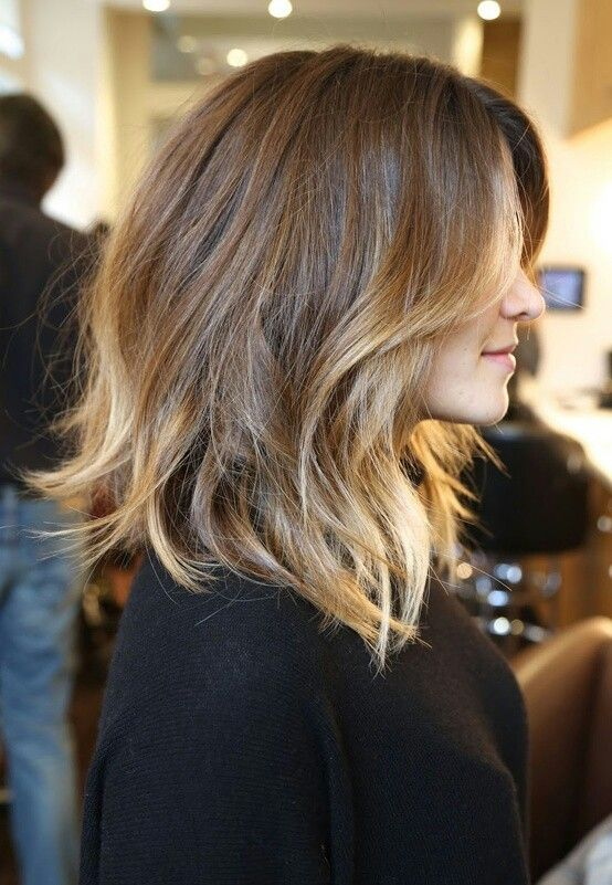 Perfect should length hair cut with ombre tips! // #hair