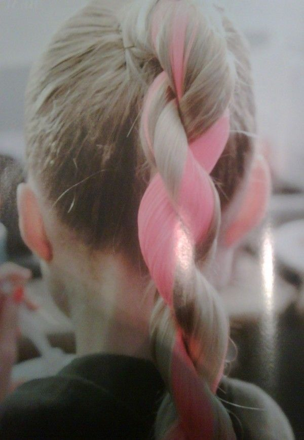 pink and blonde hair