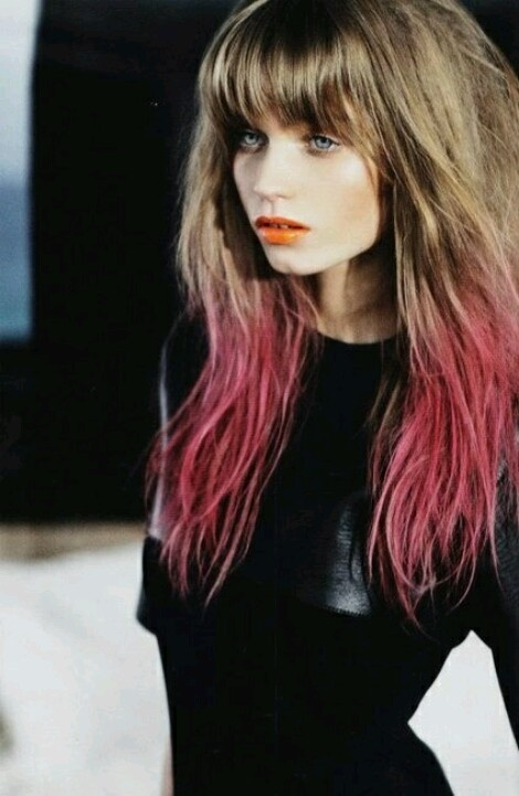 pink ombre brunette hair // gorgeous!