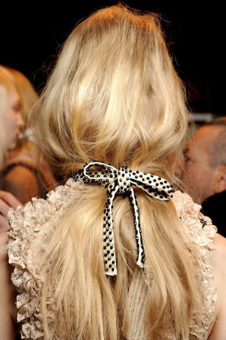 polka dot hair bow