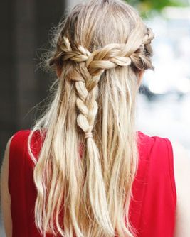 pretty braided hairdo