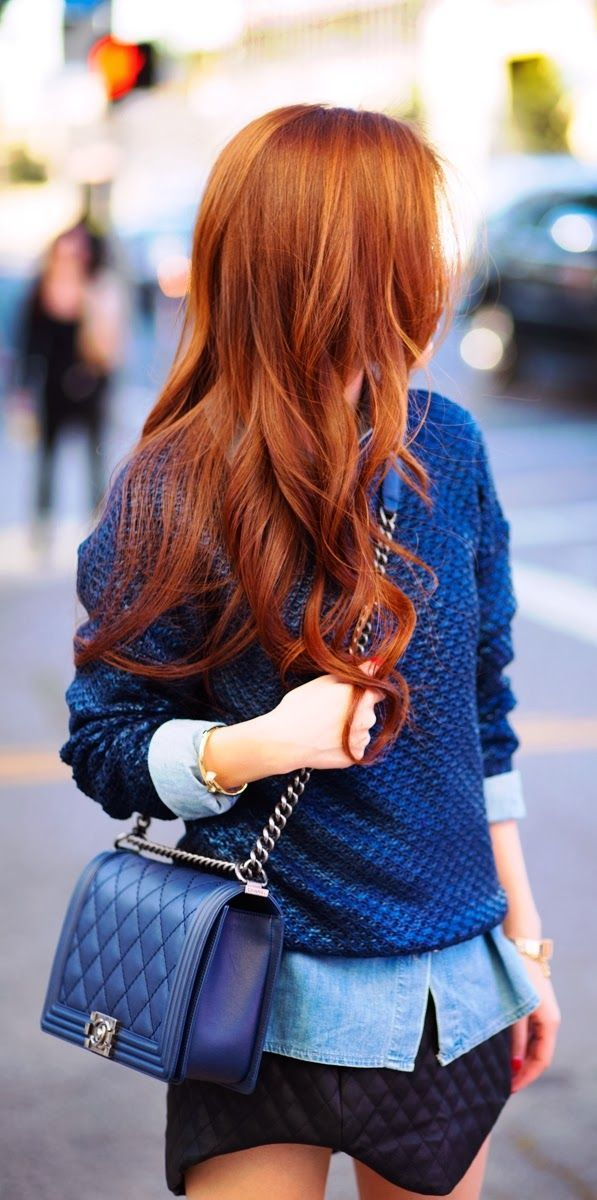 pretty hair and cute outfit