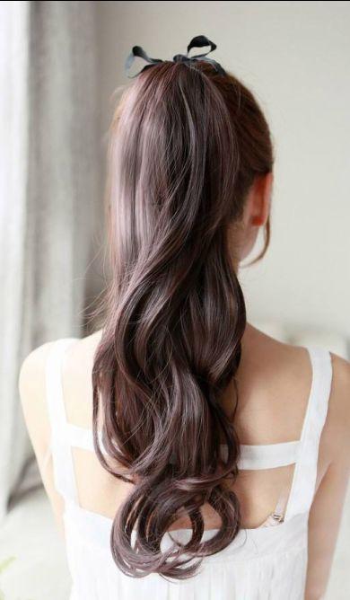 pretty long ponytail // #hair