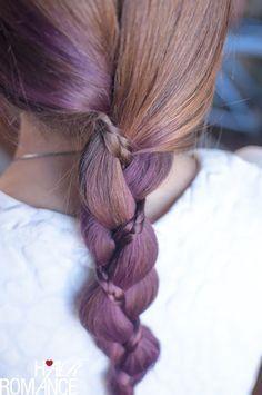 purple braid on braid #hair