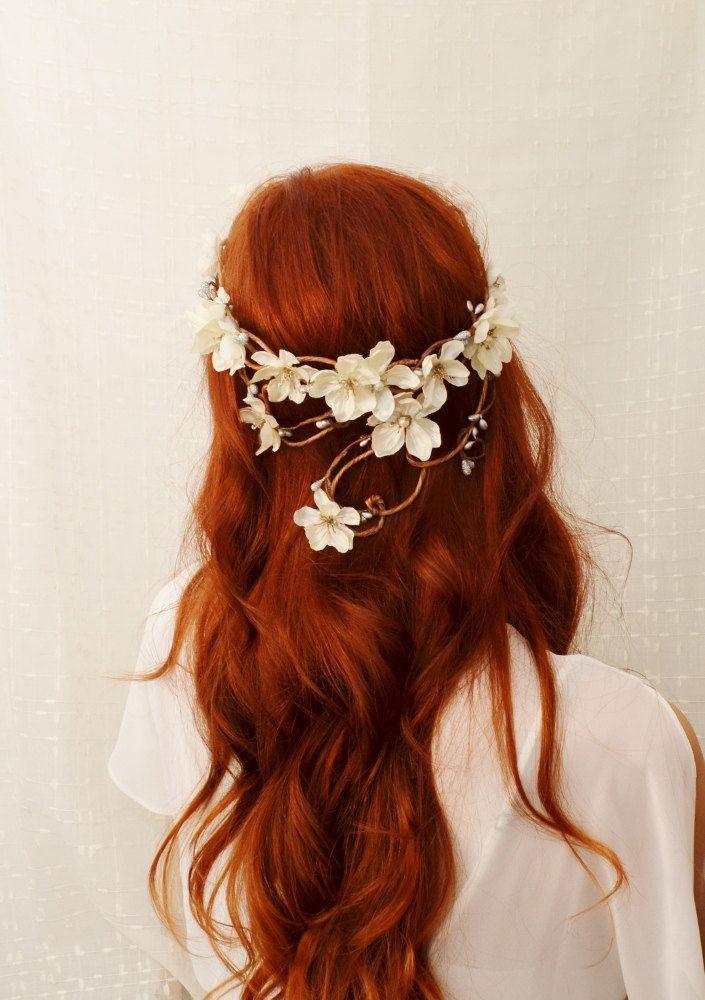 red hair + flower crown