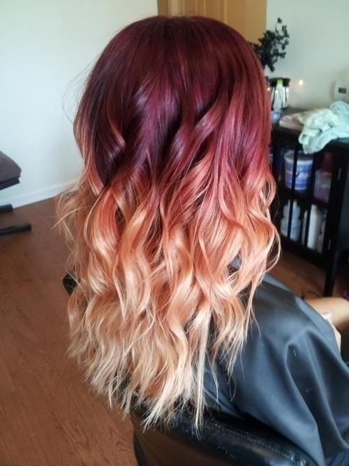 Red ombre // #hair