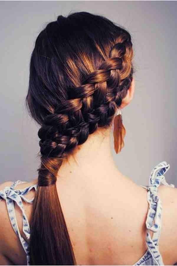 Side swooping braid // #hair love