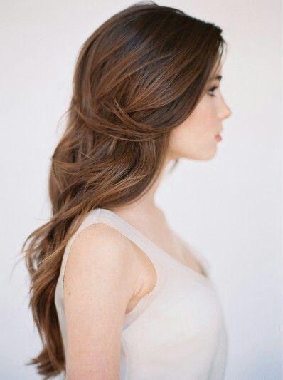 soft long brown hair