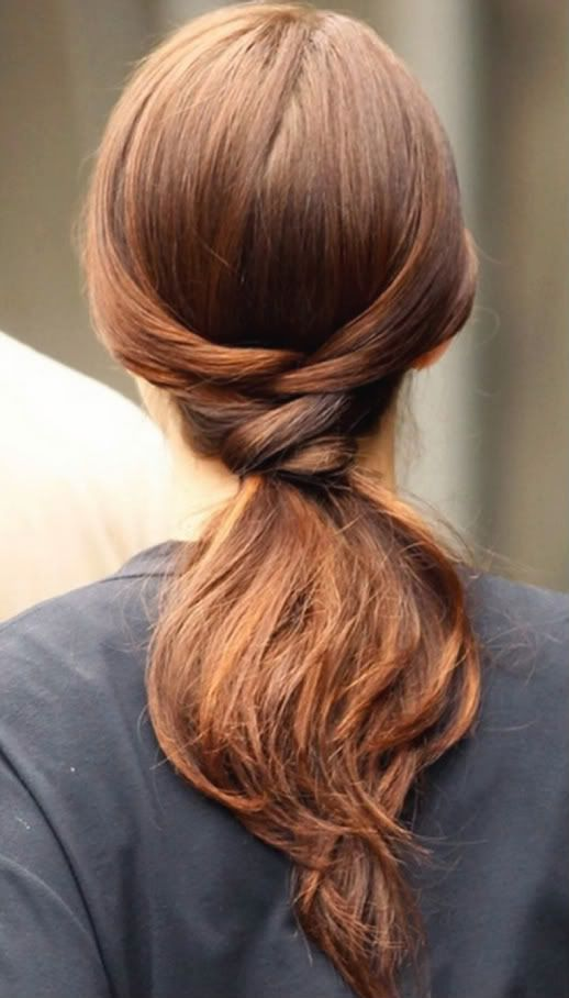 stunning low ponytail