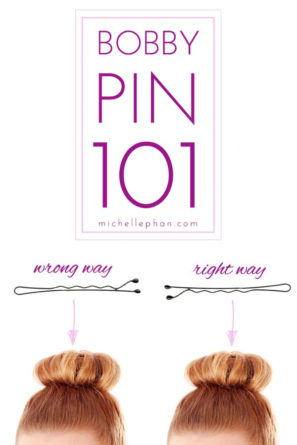 the right way to use a bobby pin...