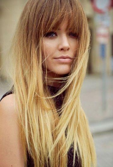 Totally bangin long hair! // #bangs #hair