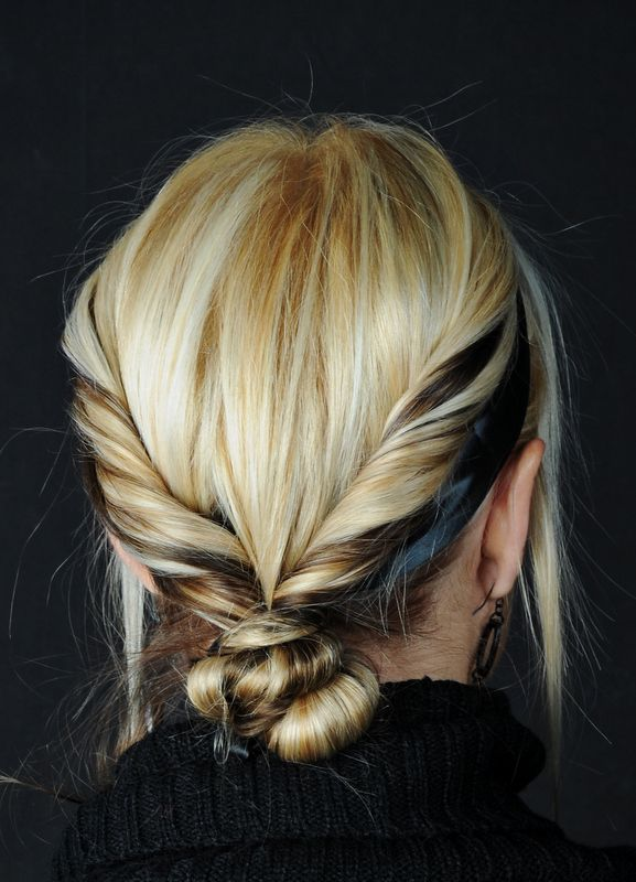 Twisted updo // #hair #style