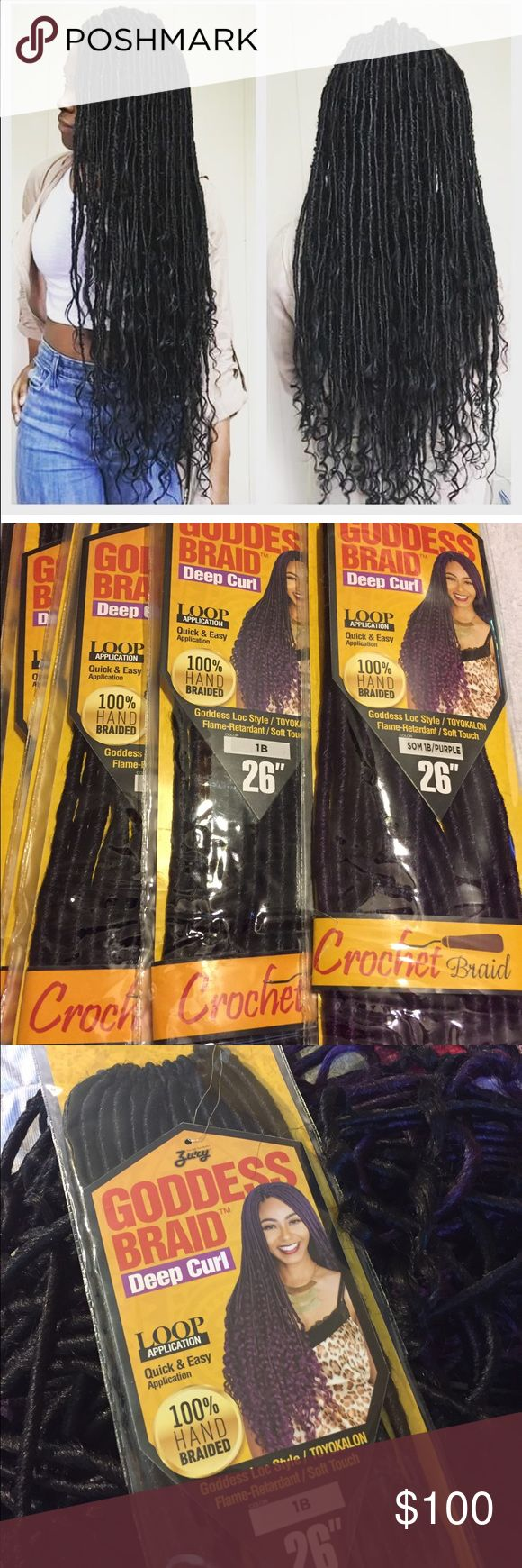 Goddess locs crochet braid Took these out the pack and started to put them on a ...