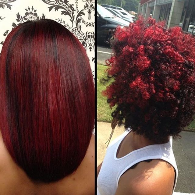 Natural hair versatility by @hairboss_divinedesignsbyashley ❤️ Love the colo...