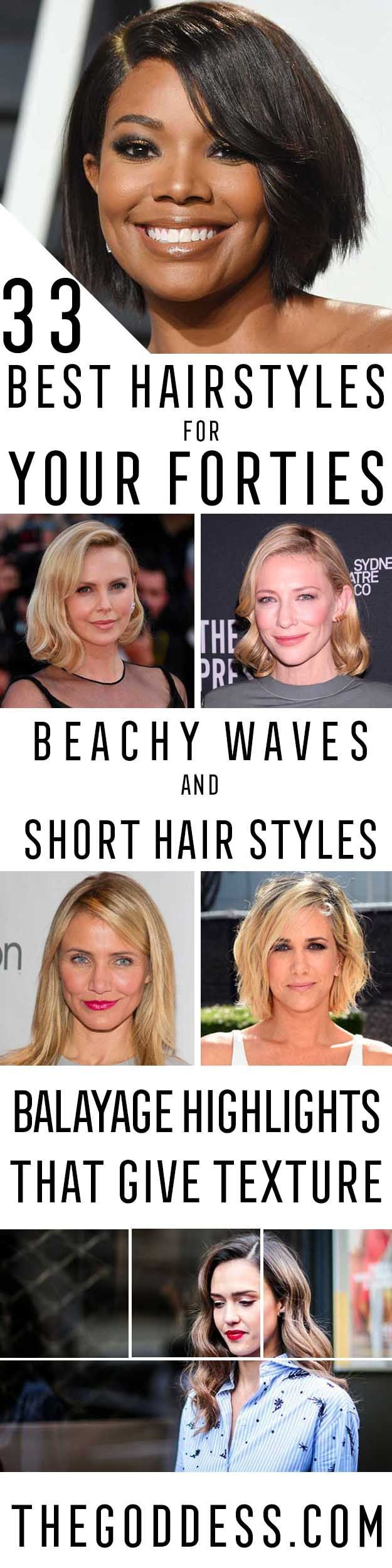 Best Hairstyles For Your 40s - Most Flattering Haircuts And Hairstyles For Women...