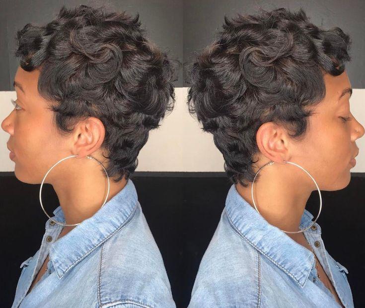 Classy curly pixie via Kisha Jefferson - blackhairinformat...
