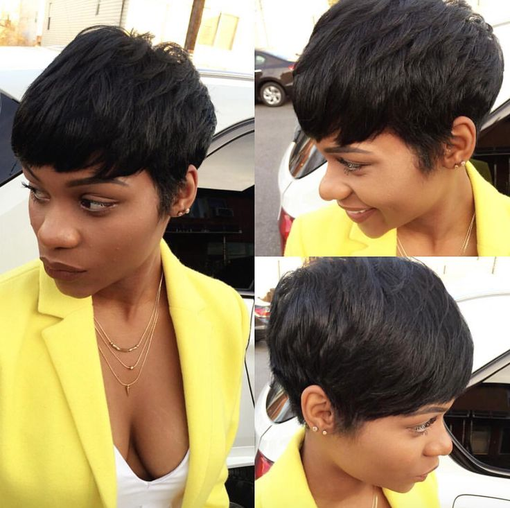 Classy pixie by @artistry4gg  Read the article here - blackhairinformat...