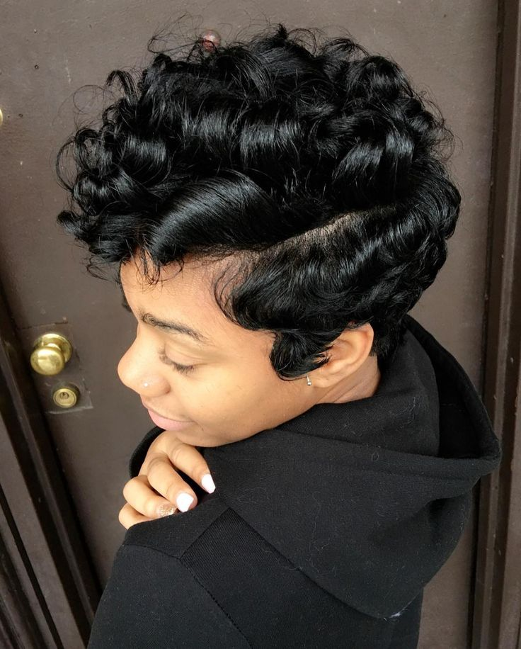 Cute curly pixie via @artistry4gg  Read the article here - blackhairinformat...