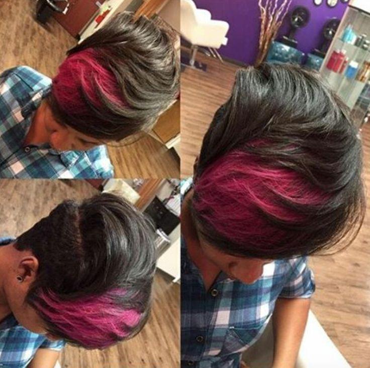 Dope splash of pink via @mobhair  Read the article here - blackhairinformat...