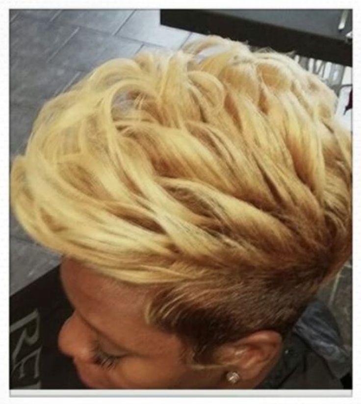 Edgy blonde via @peace_of_mine_hair - blackhairinformat...