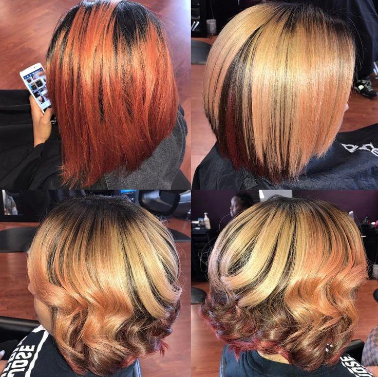 Gorgeous cut and color via Kisha Jefferson - blackhairinformat...