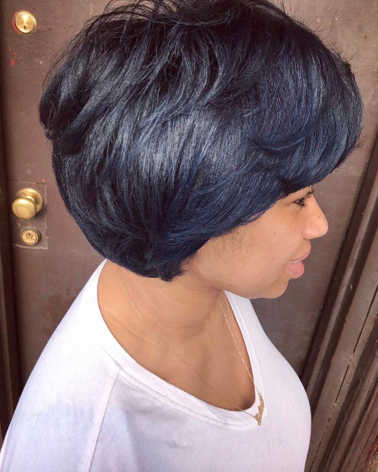 Love this subtle blue by @artistry4gg - blackhairinformat...