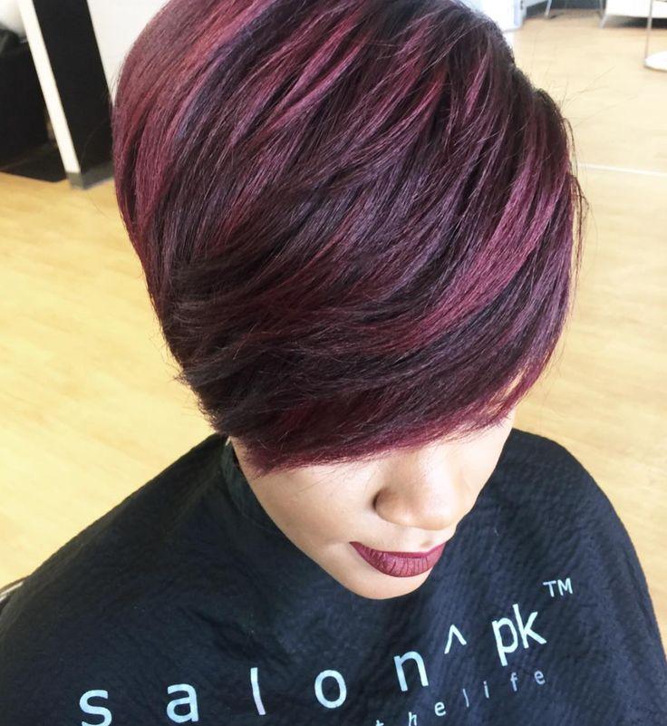 Nice cut and color via @salonpk - blackhairinformat...