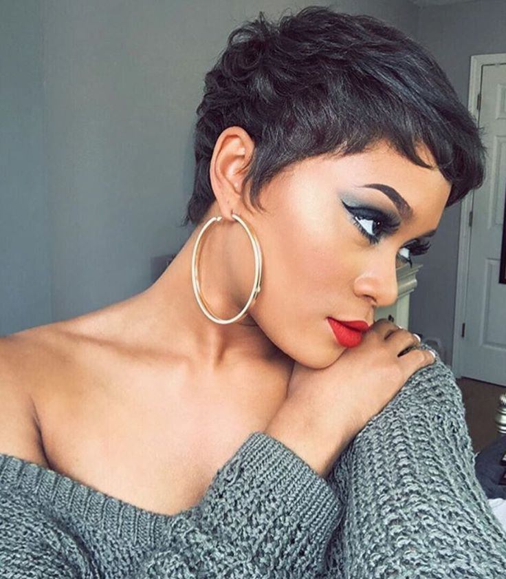 Perfect pixie @diamondmarett  Read the article here - blackhairinformat...