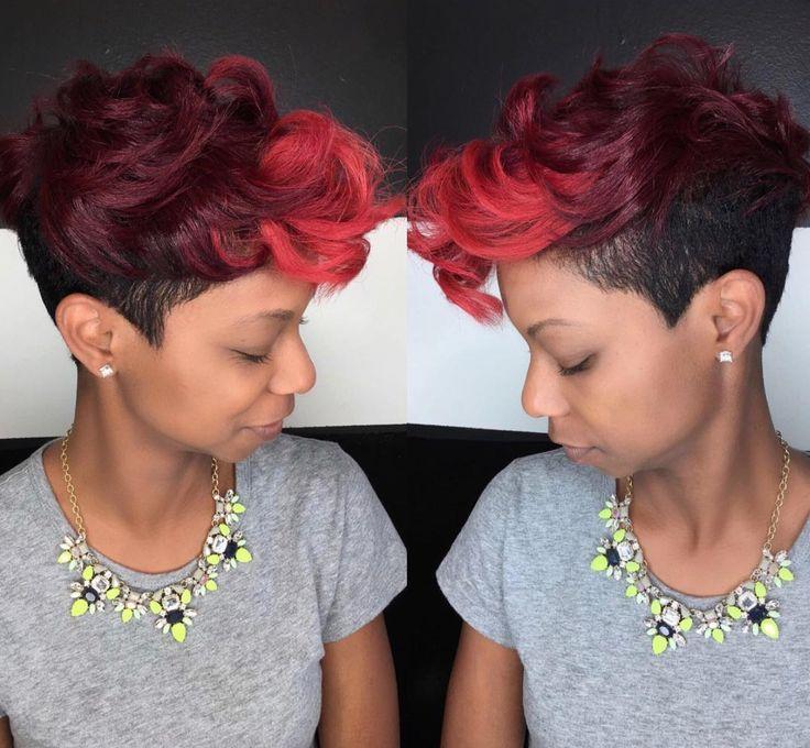 Unique color blend via Kisha Jefferson  Read the article here - blackhairinforma...