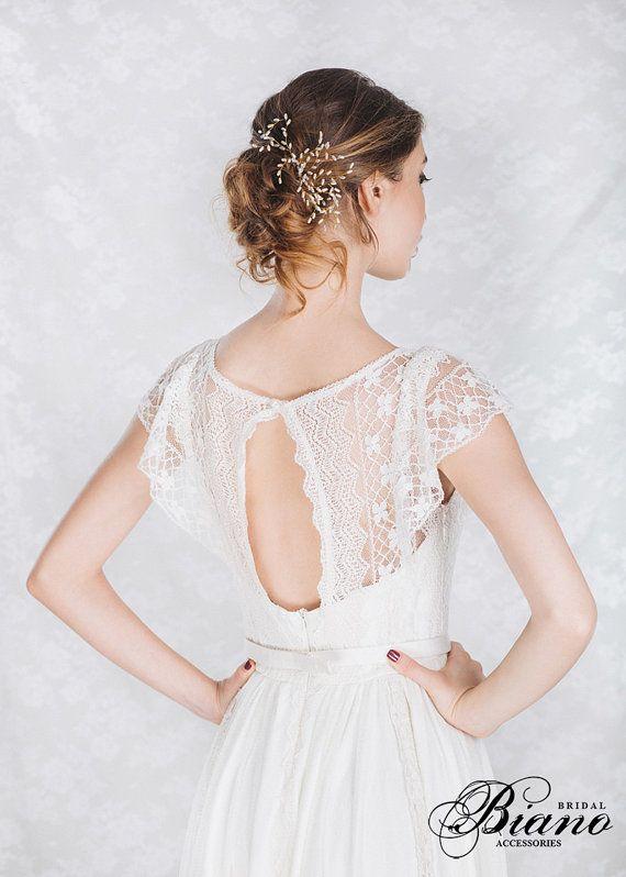 Bridal Hair Pins, Set of 3 Wedding Hair Pin, Pearl bobby pins, Bridal HairPins, ...