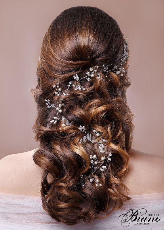 Bridal Hair Vine, Wedding Tiara, Wedding Headband, Bridal Hairpiece, Boho Headpi...
