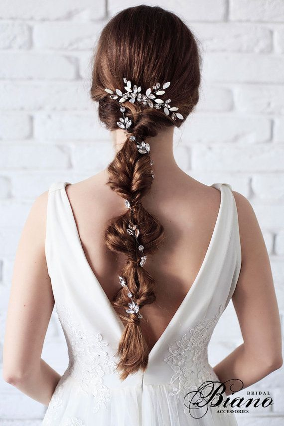 Bridal Headpiece, Wedding Hairpiece, Rhinestone Hair Comb, Bridal Hair Comb, Wed...