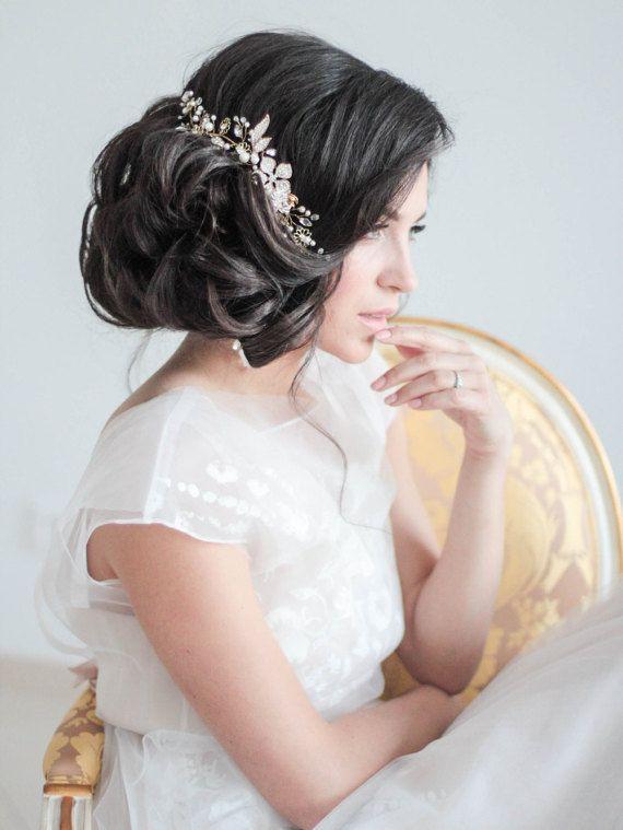 Crystal Decorated Wedding Bridal Hair Comb Bridal Decorative Hair Comb Wedding H...