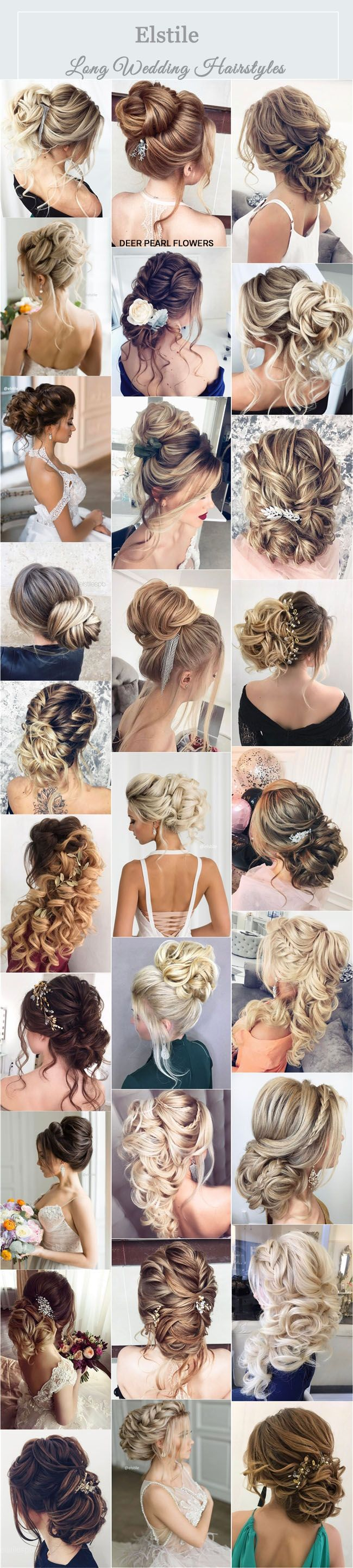 Elstile Wedding Hairstyles & Updos for Long Hair / www.deerpearlflow...