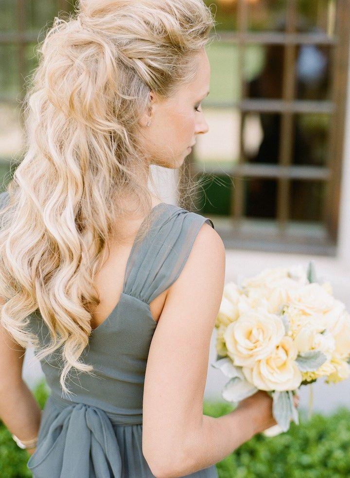 Featured Photographer: Adam Barnes Photography; Wedding hairstyle idea.