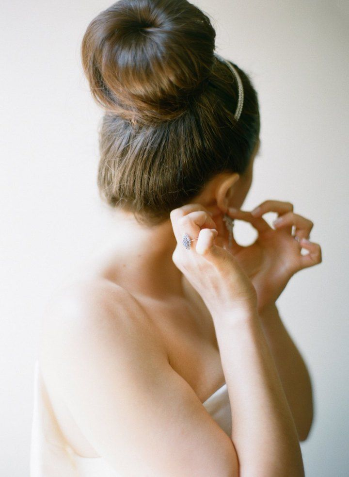 Featured Photographer: Caroline Yoon Fine Art Photography; Wedding hairstyle ide...