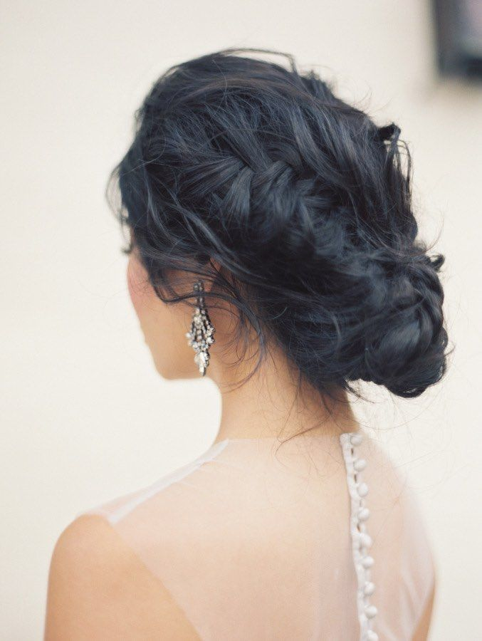Featured Photographer: Carolly Fine Art Photography; Wedding hairstyle idea.
