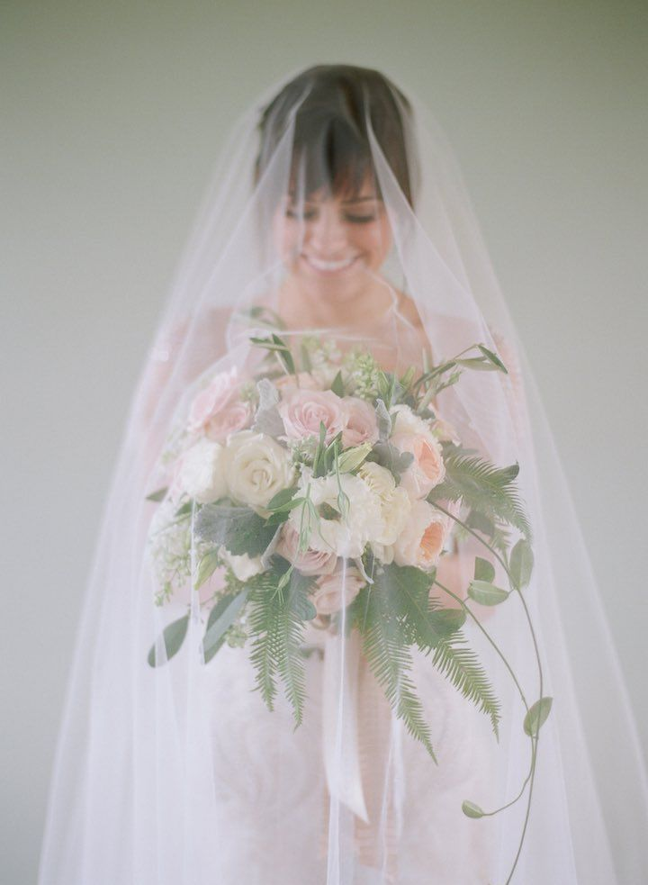 Featured Photographer: Elizabeth Messina Photography; Wedding veil idea.