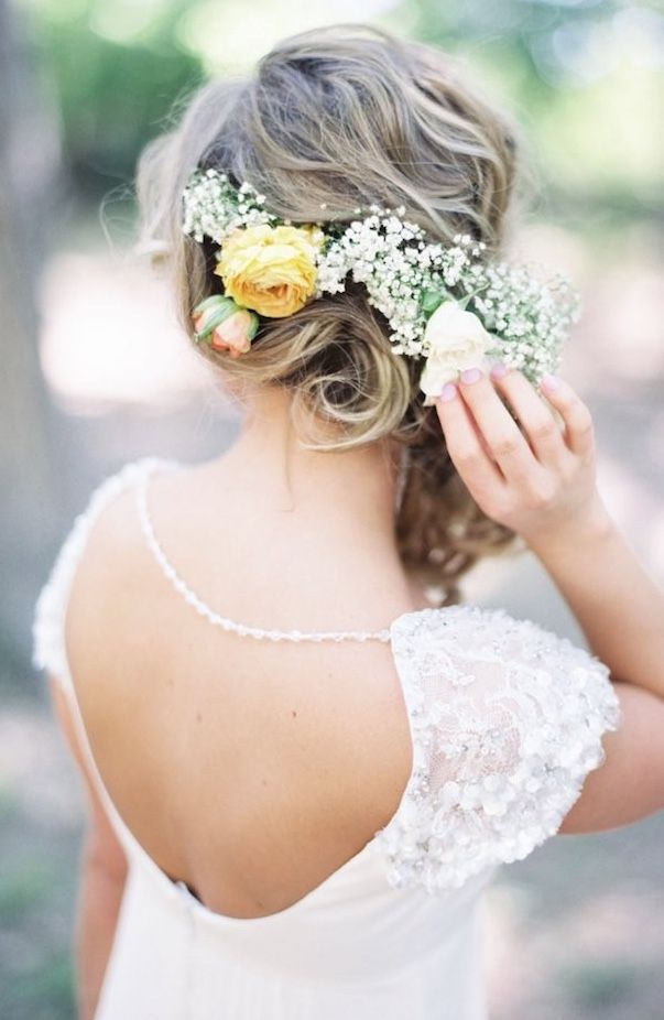 Featured Photographer: Michelle Boyd Photography; Wedding hairstyle idea.
