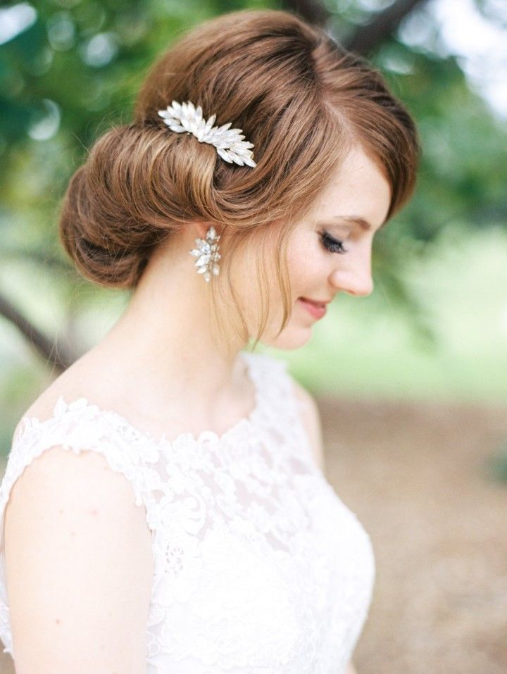 Featured Photographer: Ryan Price Photography; Wedding hairstyle idea.
