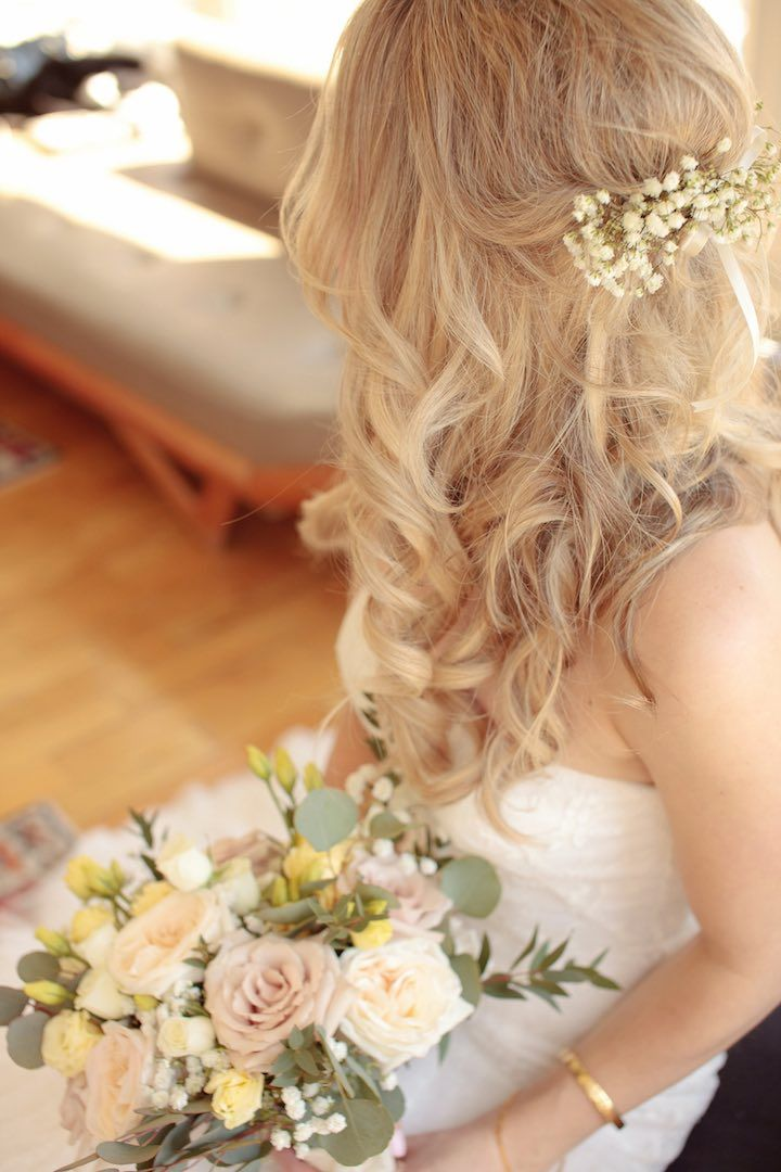 Featured Photographer: Tied Photography; Wedding hairstyle idea.