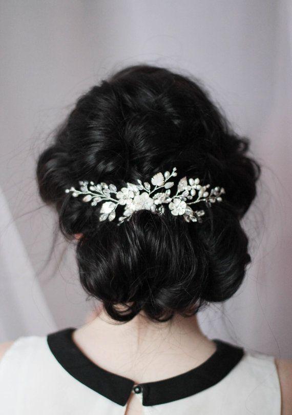 Pearl Hair Piece Bridal Head Piece Wedding Headpiece Pearly Hair Comb Wedding Ha...