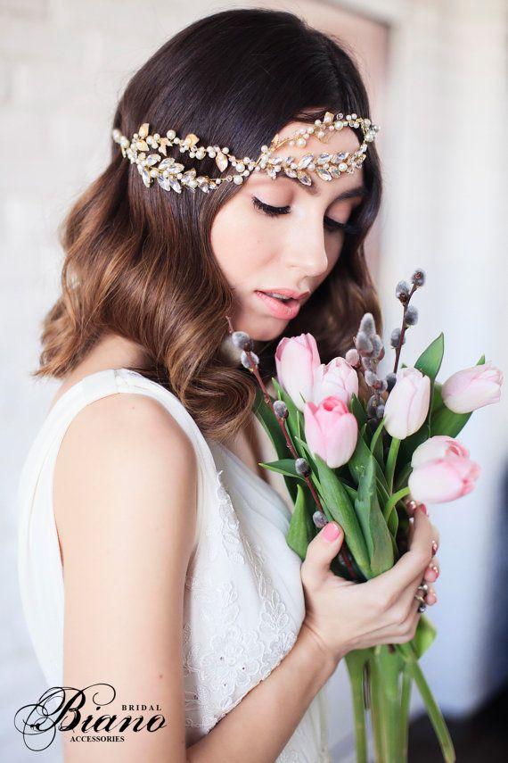 Vintage Bridal Headband, Wedding headband, Bridal Headpiece, Wedding Hair Access...