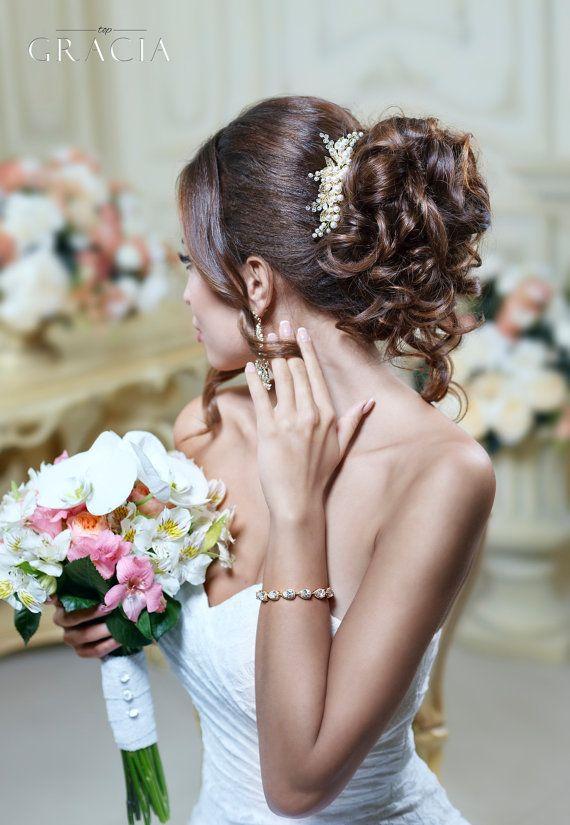 Wedding hair comb Vintage hair comb Bridal hair comb Bridal hair piece Wedding h...