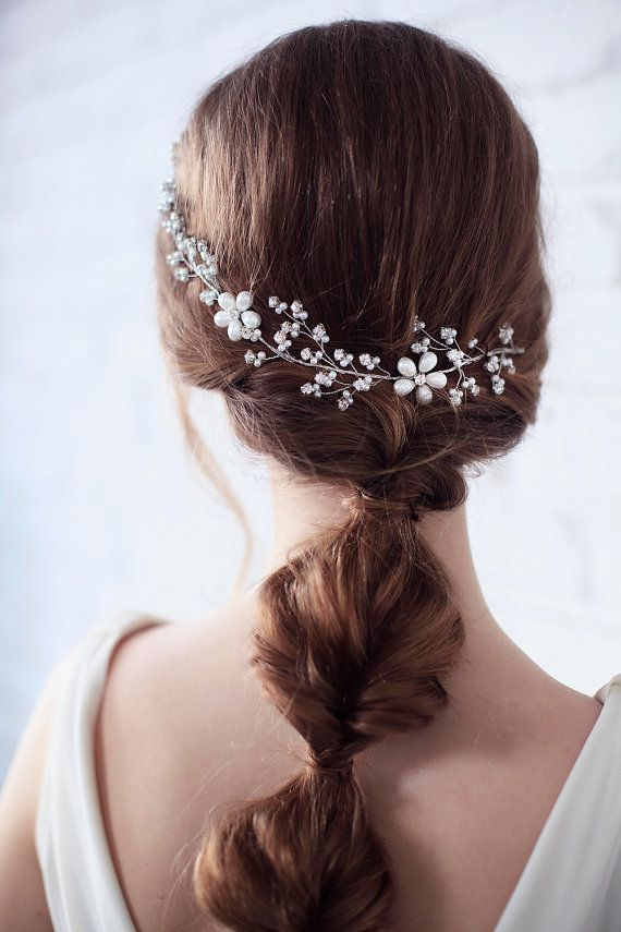 Wedding Headband, Bridal Headband, Pearl Headband, Bridal Crown, Wedding Hair Vi...