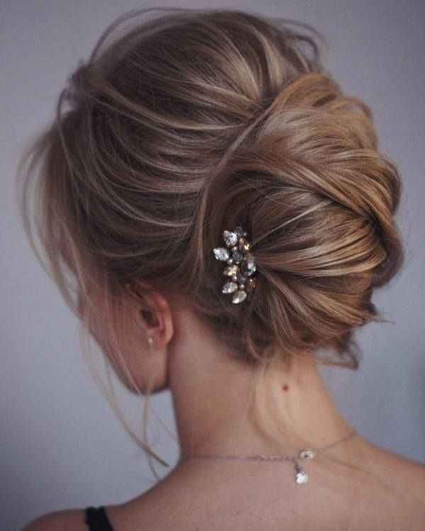 Tonya Pushkareva Long Wedding Hairstyle for Bridal via tonyastylist  / www.himis...
