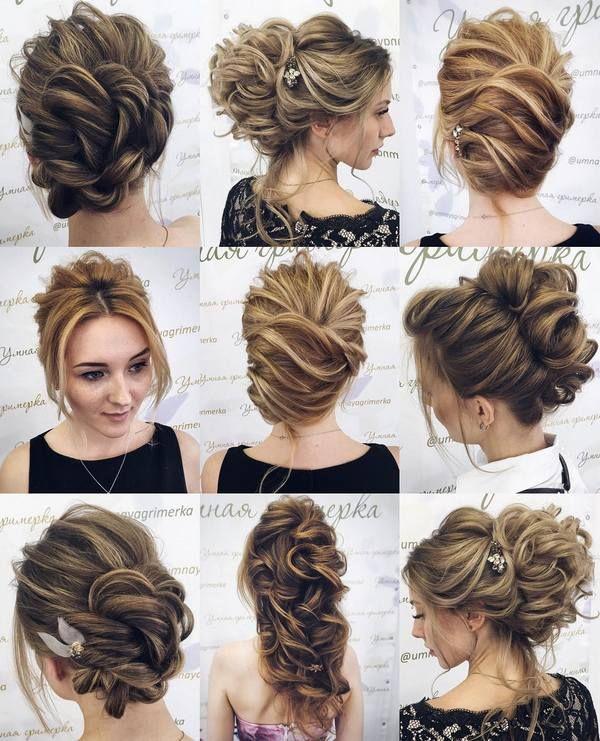 Tonya Pushkareva Long Wedding Hairstyle for Bridal via tonyastylist/ www.himissp...